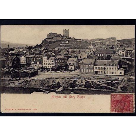 Allemagne - Bingen mit Burg Klopp