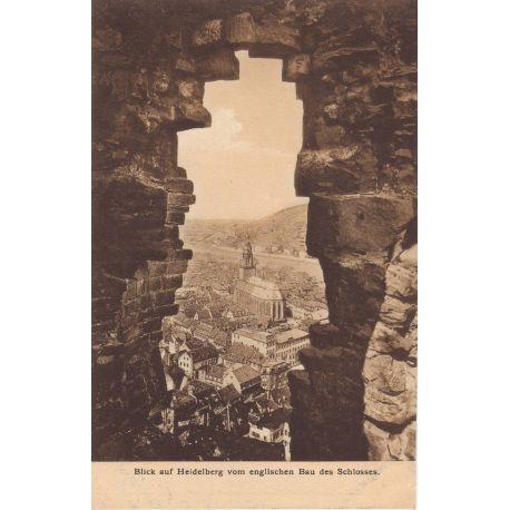 Allemagne - Blick auf Heidelberg vam englischen Bau des Schlosses