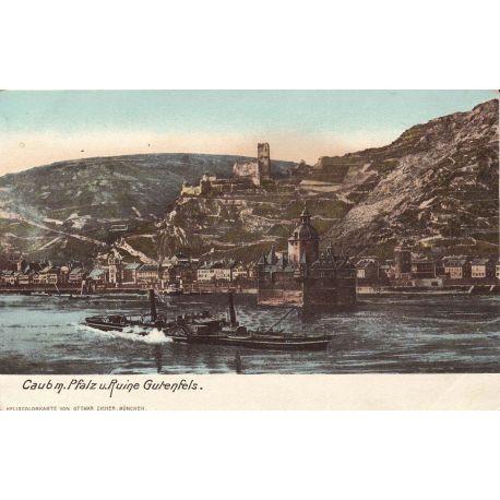 Allemagne - Caubm. Pfalz u. Ruine Gutenfels