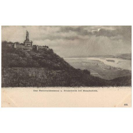 Allemagne - Das Nationaldenkmal u. Rudesheim