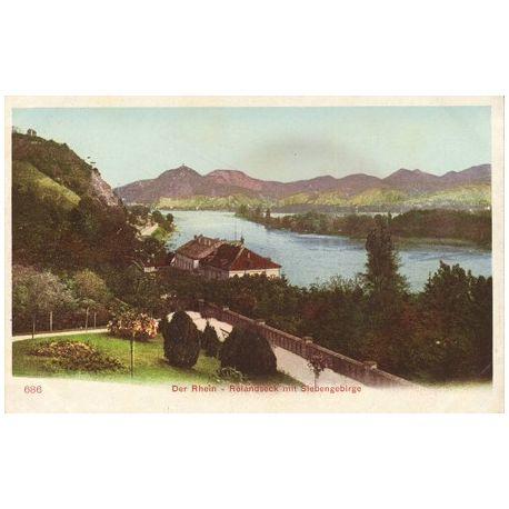 Allemagne - Der Rhein Rolandseck mit Seibengebirge