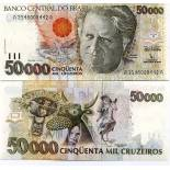 Banknote collection Brazil Pick number 234 - 50000 Cruzeiro 1990