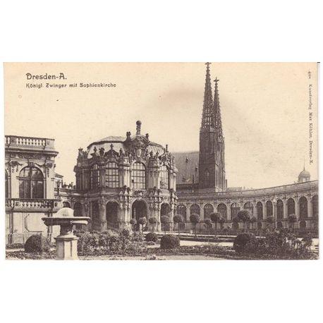 Allemagne - Dresden A. Konigl. Zwinger mit Sopheinkirche