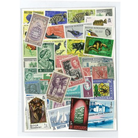 British Honduras - 25 different stamps