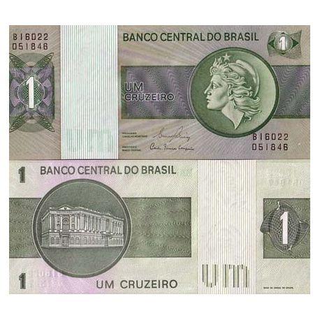 Billets de collection Billets de banque Bresil Pk N° 191 - 1 Cruzeiro Billets du Bresil 2,00 €