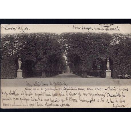 Autriche - Wien - Schonbrunn - Allee im k. k. Schlossgarten