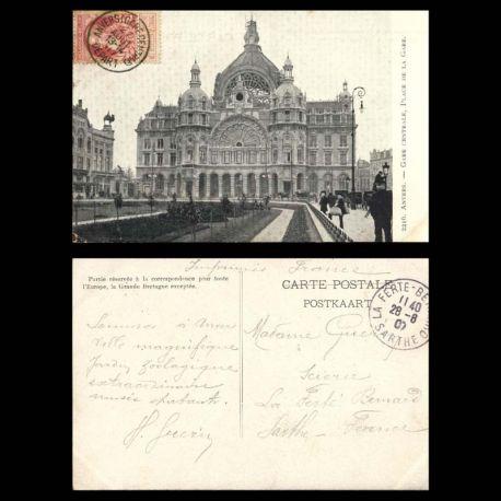 Belgique - Anvers - Gare centrale place de la gare