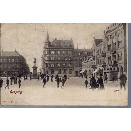 Danemark - Esbjerg - Torvet - Animee - 1904