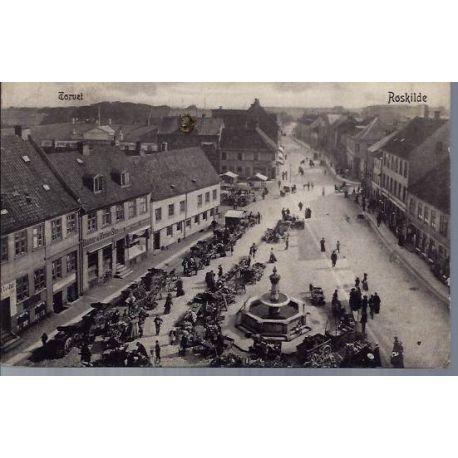 Danemark - Roskilde - Torvet - Animee - 1905