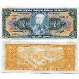 Precioso de billetes Brasil Pick número 157 - 2 Cruzeiro