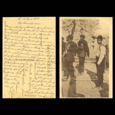 Grece - Salonique - Types de Portefaix et Debardeurs - Street porters and lumpers - 1918