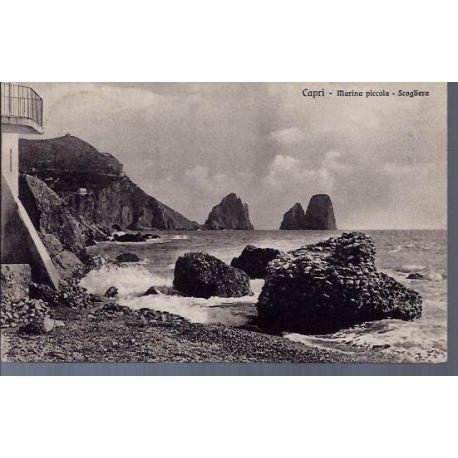Italie - Capri - Marina piccola - Scogliera