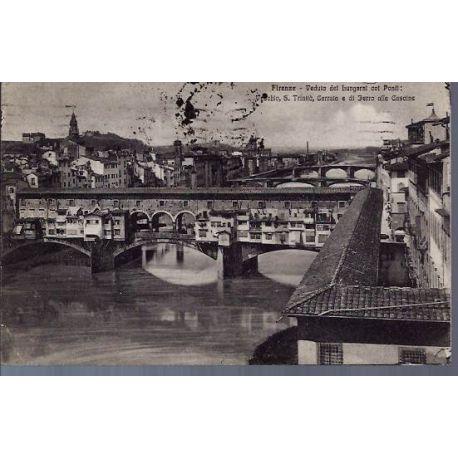 Italie - Firenze - Veduta dei Lungari col Ponti