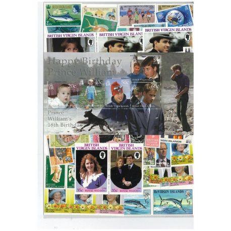 Iles Vierges - 10 timbres différents
