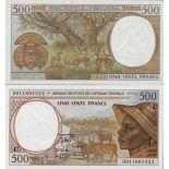 Billets banque Afrique Centrale CONGO Pk N° 101 - 500 Francs