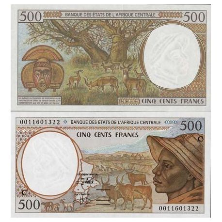Central Africa CONGO - Pk # 101 - Ticket 500 Francs