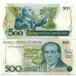 Collezione di banconote Brasile Pick numero 212 - 500 Cruzeiro 1986