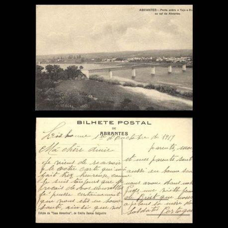 Portugal - Abrantes - Ponte sobre o Tejo e rocio ao sul de Abrantes