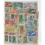 Französische Sammlung gestempelter Briefmarken Indien