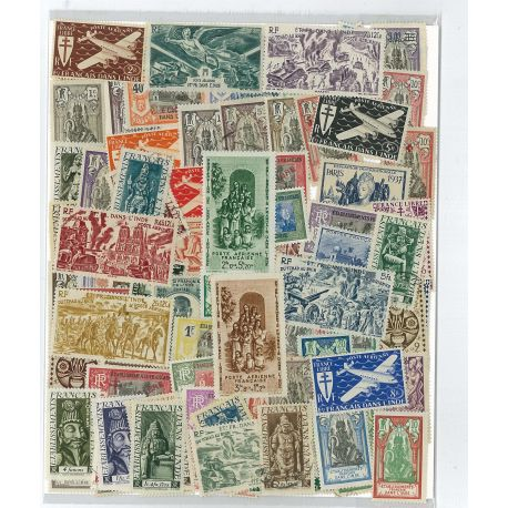 French India - 25 different stamps