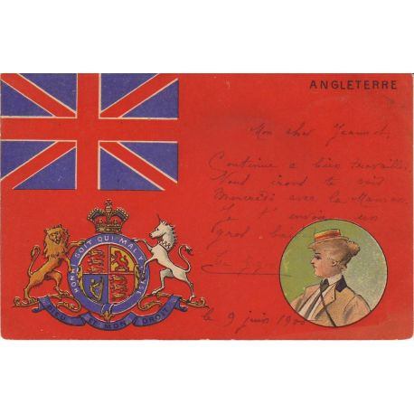 GB - Angleterre - Union Jack et Armoiries