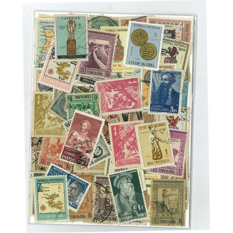 Inde Portugaise - 50 timbres différents