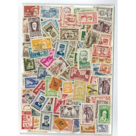 Indochina - 25 verschiedene Briefmarken