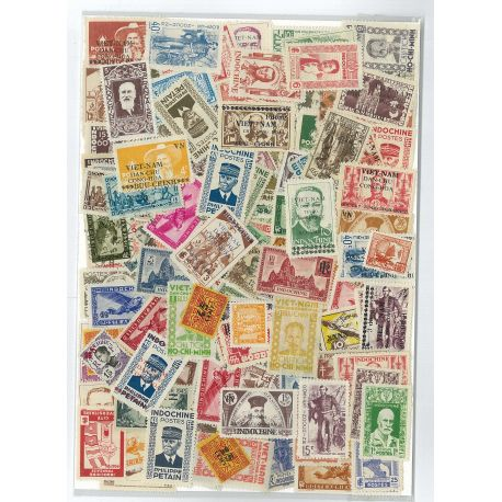 Indochina - 25 different stamps
