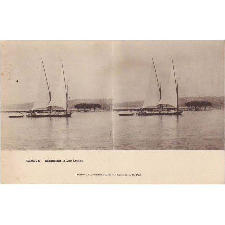 Suisse - Geneve - Barque sur le lac Leman