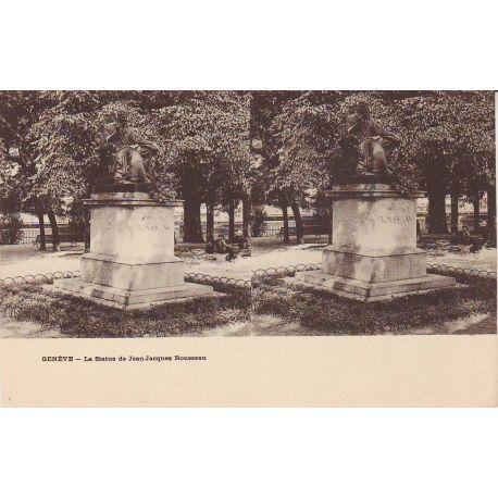 Suisse - Geneve - Statue de J.J. Rousseau