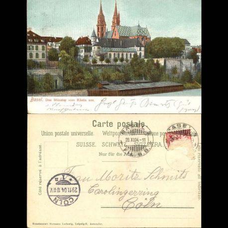 Suisse - Basel - Das Munster vom Rhein aus.