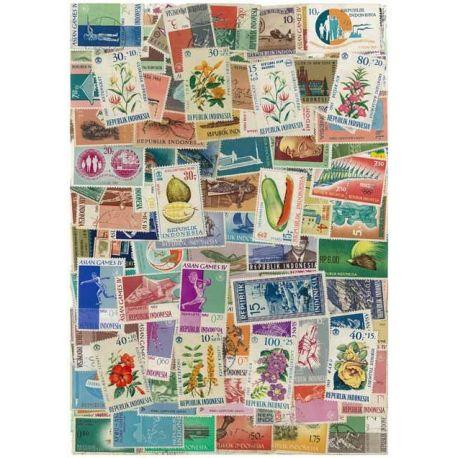 Indonesien - 100 verschiedene Briefmarken