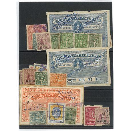 Indore - 25 verschiedene Briefmarken