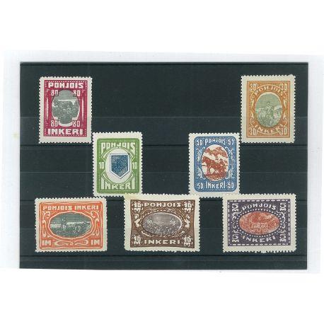 Ingria - 7 verschiedene Briefmarken