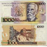 Precioso de billetes Brasil Pick número 216 - 1 Cruzeiro 1989