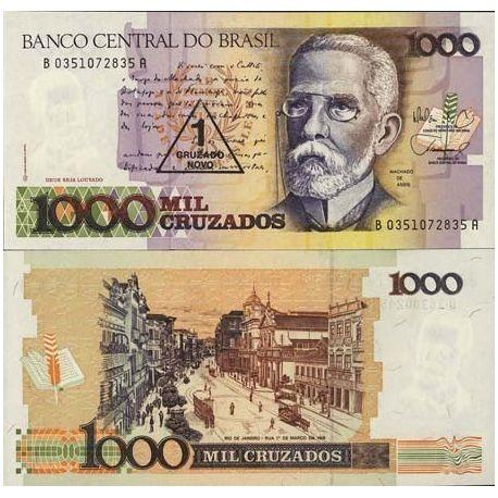 Billets de collection Billets collection Bresil Pk N° 216 - 1 Cruzados Billets du Bresil 2,00 €