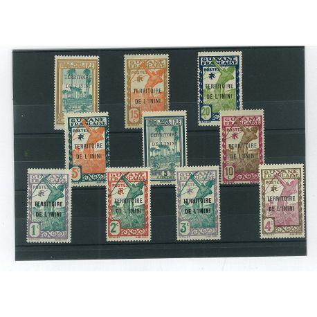 Collection de timbres Inini oblitérés