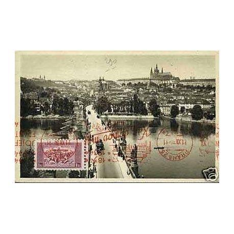 Tchecoslovaquie - Prague - Sur le pont Charles
