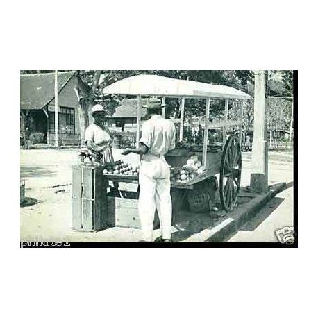 Trinidad - Port of Spain - Fruit Vendor