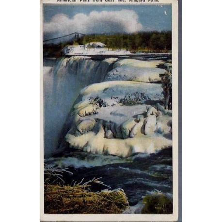 USA - American falls from Goat Isle Niagara falls