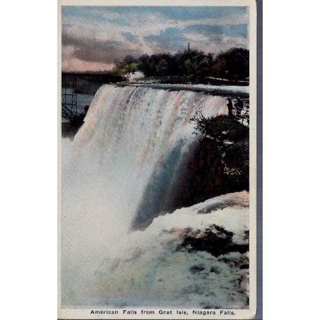 USA - American falls from Goat Isle-Niagara falls