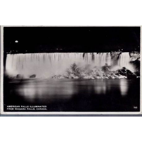 USA - American falls illuminated from Niagara fall