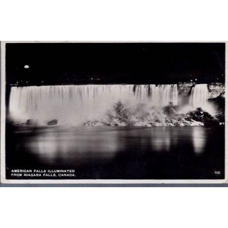 USA - American falls illuminated from Niagara fall