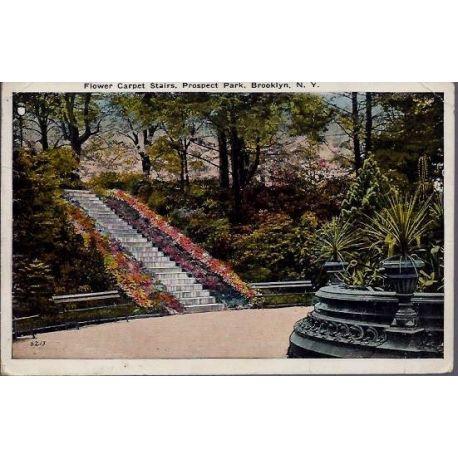 USA - Brooklyn N.Y. - Flower Carpet stairs