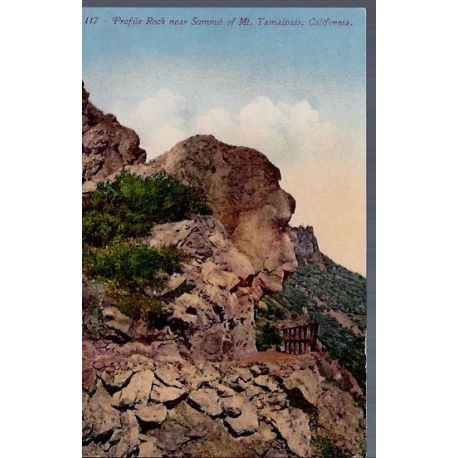 USA - California - Profile rock near Mt. Tamalpais