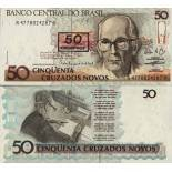 Banknote collection Brazil Pick number 223 - 50 Cruzeiro 1990