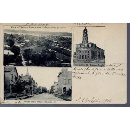 USA - Nauvoo - Multivue - Mormon Temple 1904