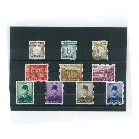 IRIAN Barat - 10 verschiedene Briefmarken