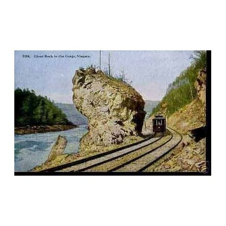 CANADA - GIANT ROCK IN THE GORGE - NIAGARA - TRAIN