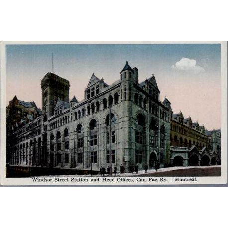 Canada - Montreal - Windsor Street Station and...